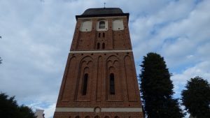 Church tower in Pasym (Poland), restorated with the help of ISO-ELEKTRA Foundation