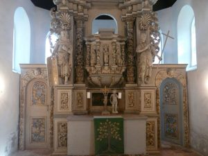Restoration of a pulpit altar in Hobeck, Saxony-Anhalt